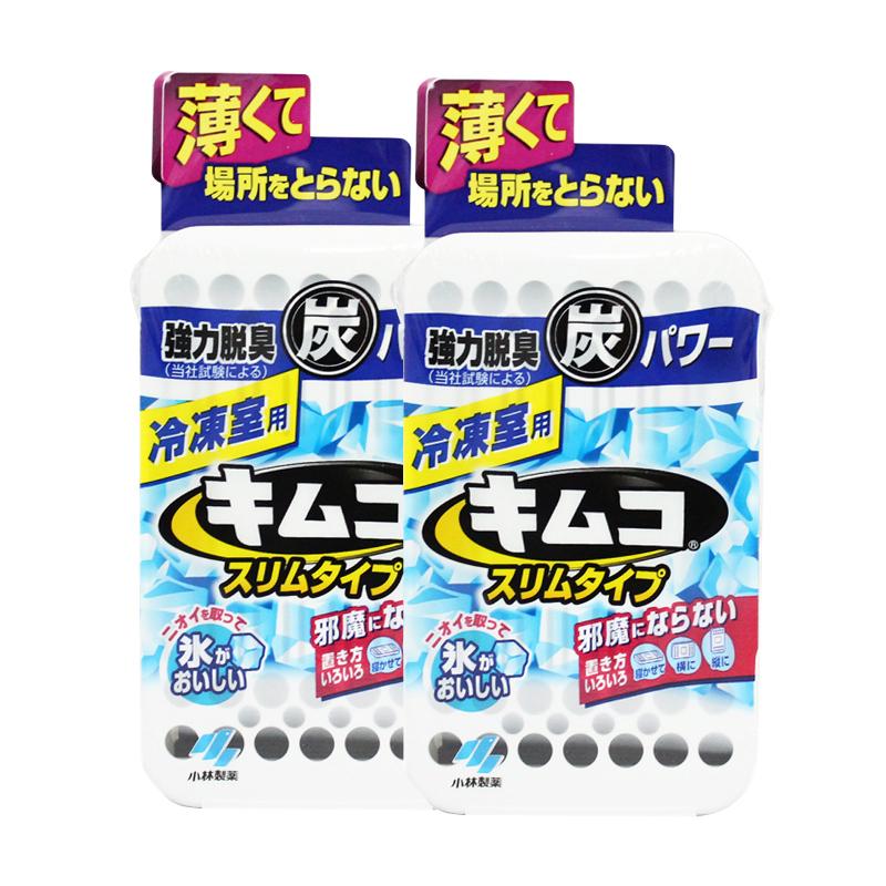 【超薄冷冻除味剂】【2个装】日本小林制药迷你型冰箱用去味剂26g/个 冷冻室用活性炭竹炭包除味