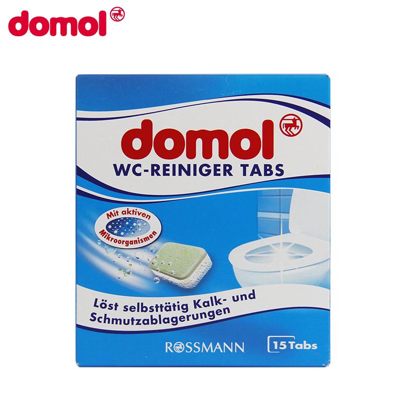 【清除顽固污渍】德国domol 马桶清洁泡腾片15粒*2件厕所除垢剂洁厕灵清洗尿垢除臭去污