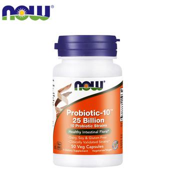 NOW 诺奥 250亿益生菌粉胶囊 50粒/瓶保护肠道黏膜健康辅助消化