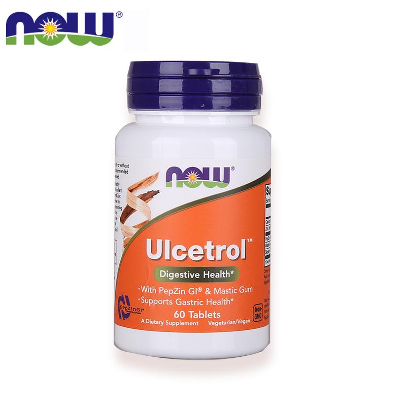 【健康养胃】NOW 诺奥 锌肌肽养胃粉保护胃黏膜调理肠胃健康片 60片/瓶
