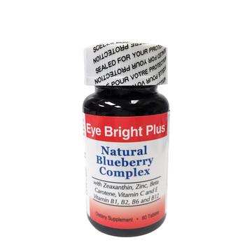 【视界更清晰】加拿大直邮 Eye Bright Plus乐晶明蓝莓叶黄素620mg*60片