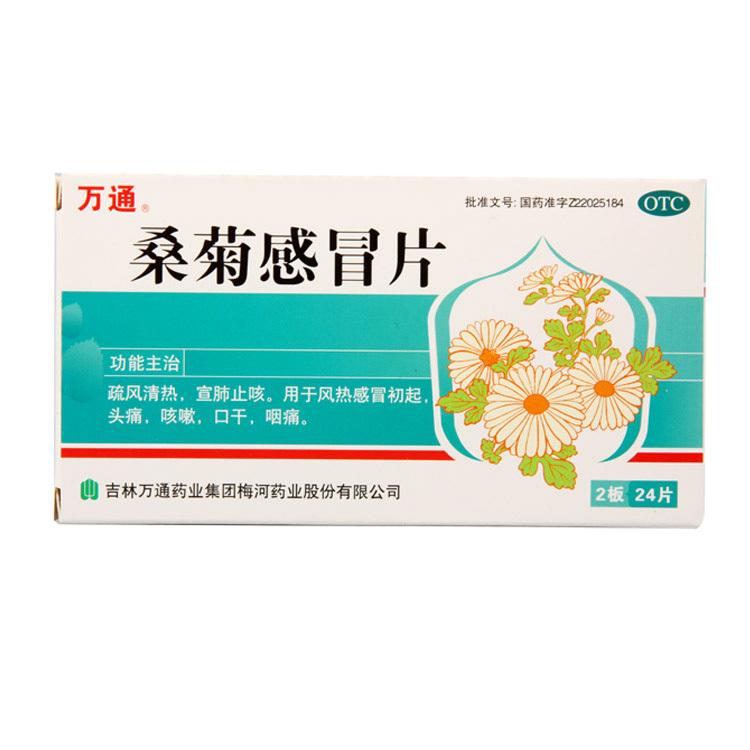 万通 桑菊感冒片 24片/盒